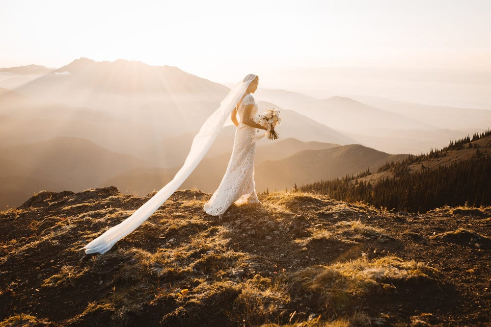 The Dress Theory // Bridal Session in Olympic National Park