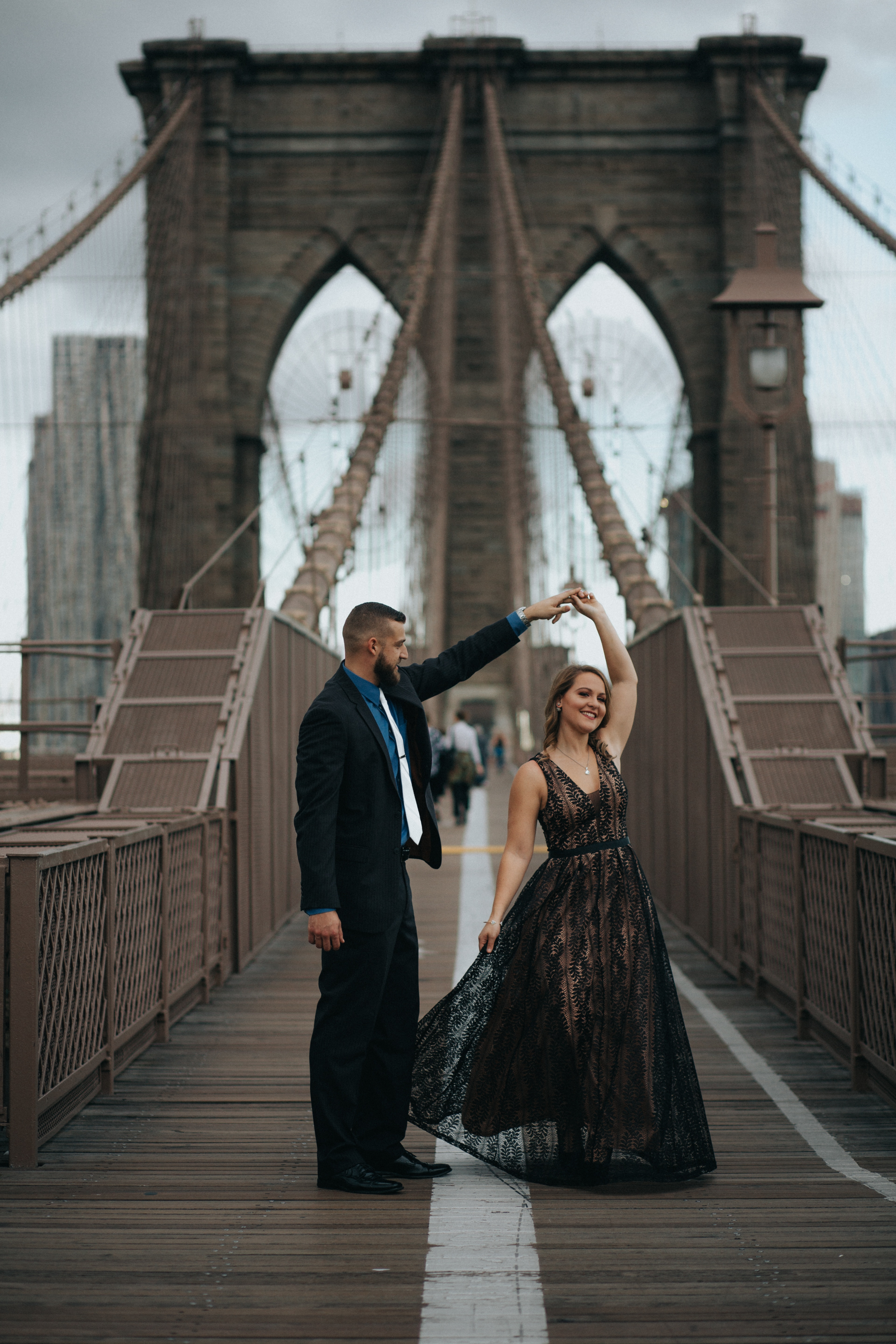 NYC, Brooklyn Bridge, Romantic, couples session
