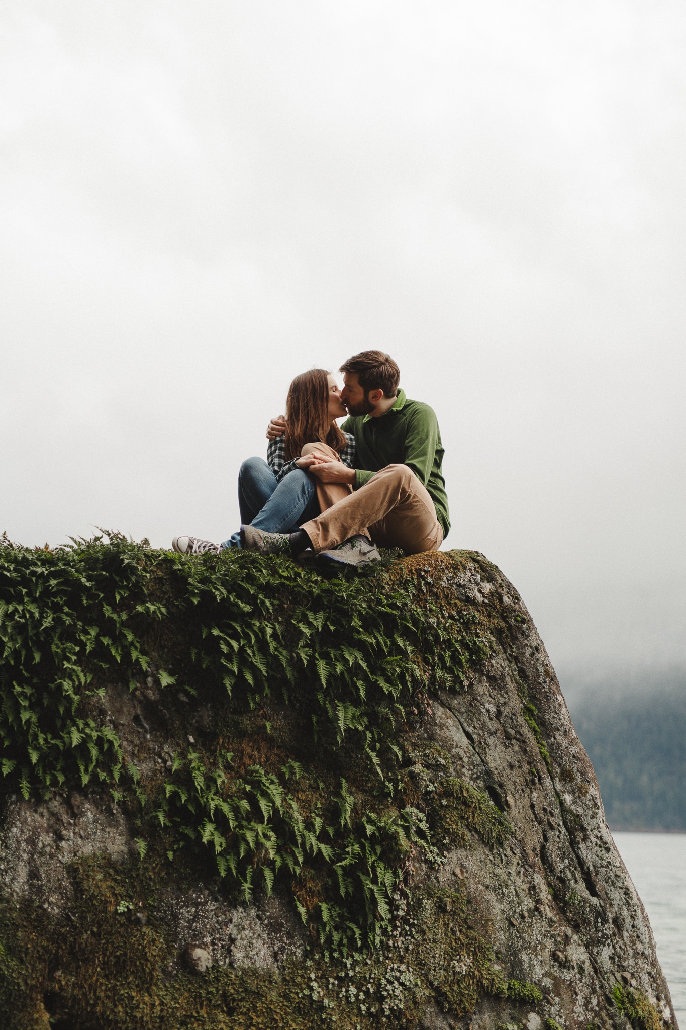 Olympic Peninsula Lake Crescent Engagement Session