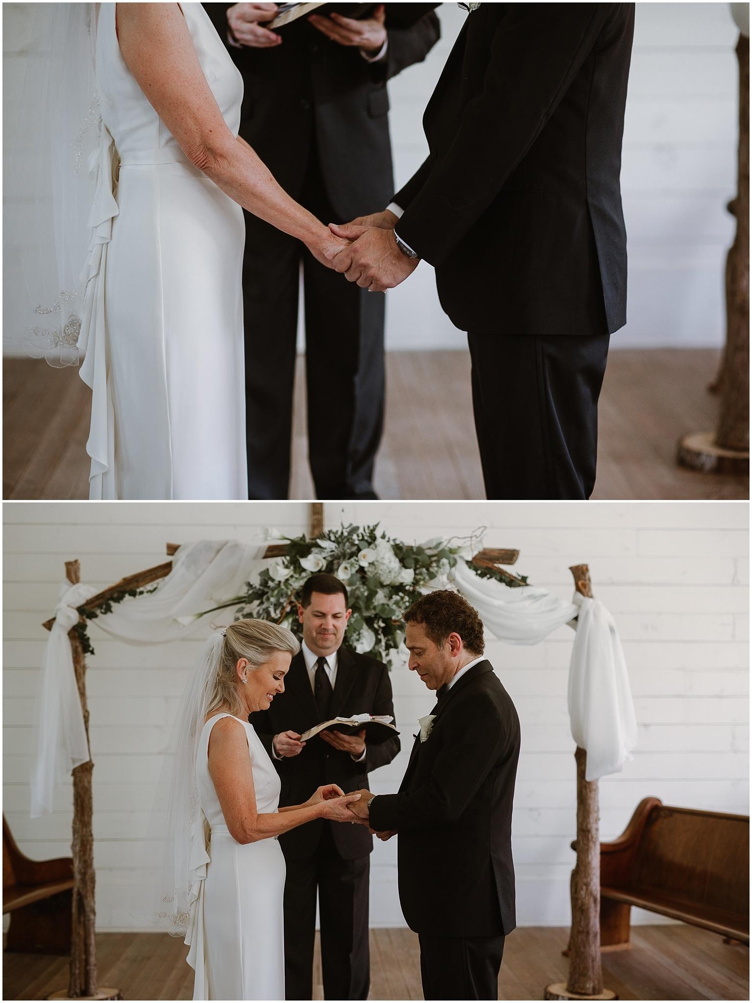 rustic destination wedding in ennis texas ceremony