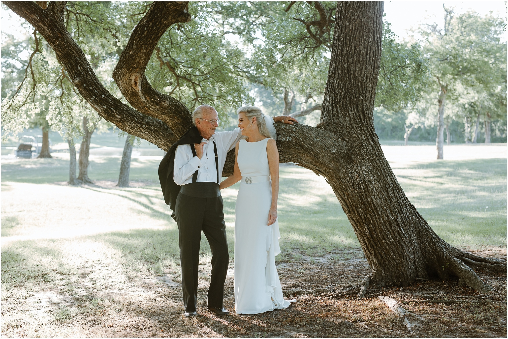 rustic destination wedding in ennis texas father daughter