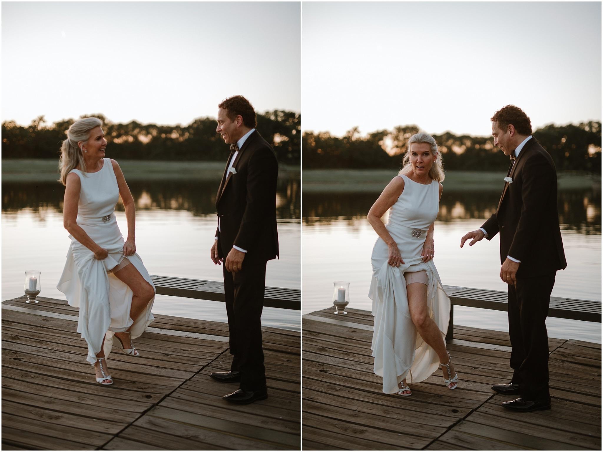 rustic destination wedding in ennis texas bride and groom