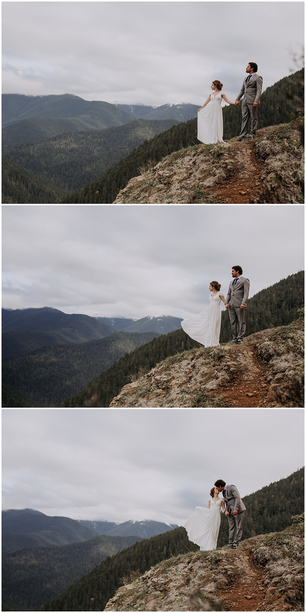 Hurricane Ridge and Olympic National Park elopement kim butler