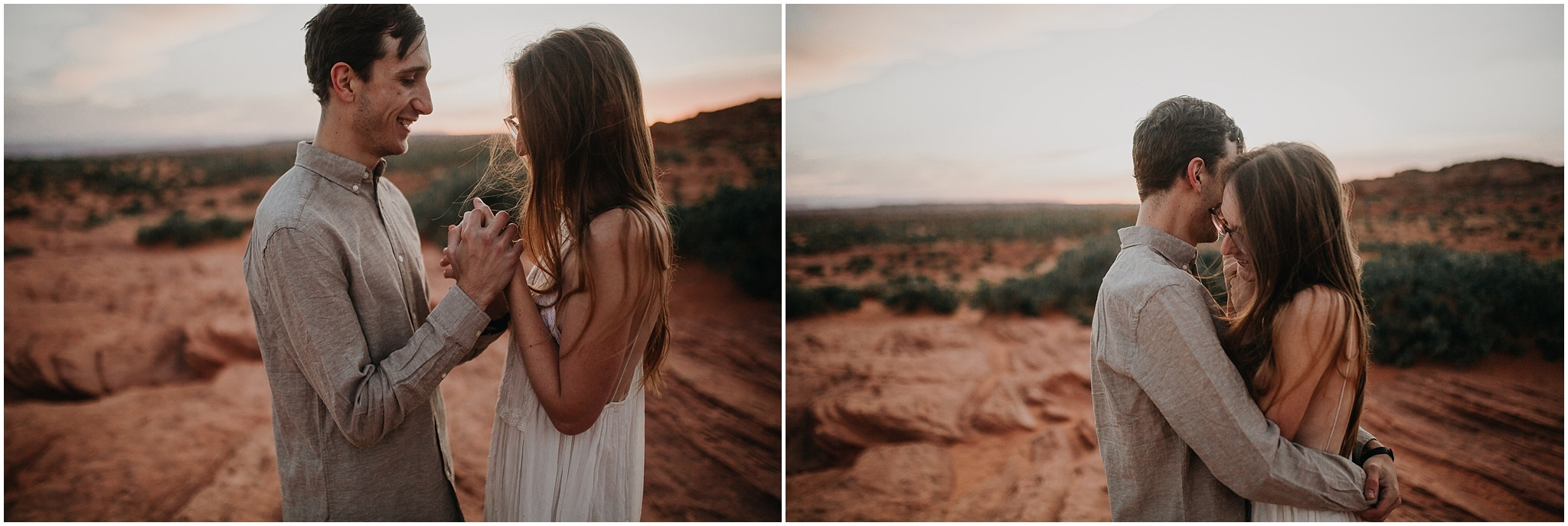 horseshoe bend, arizona, engagement, kim butler photography