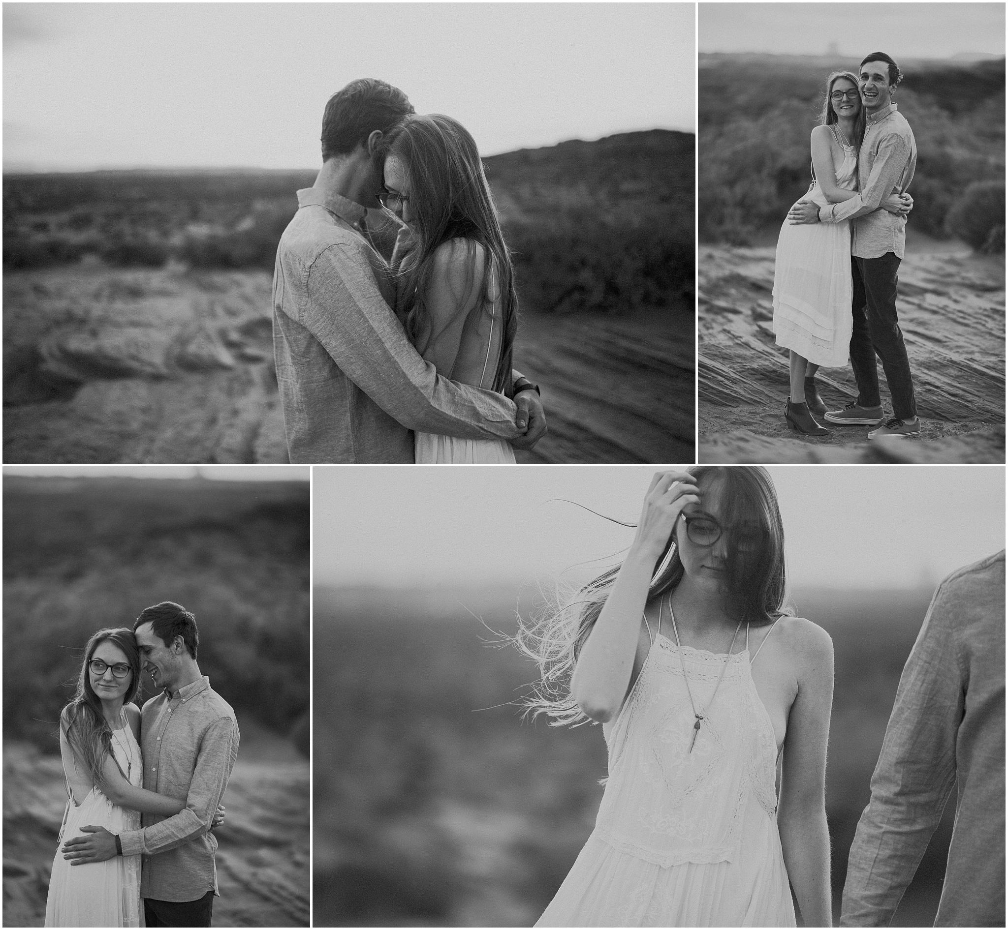 horseshoe bend, arizona, engagement, kim butler photography