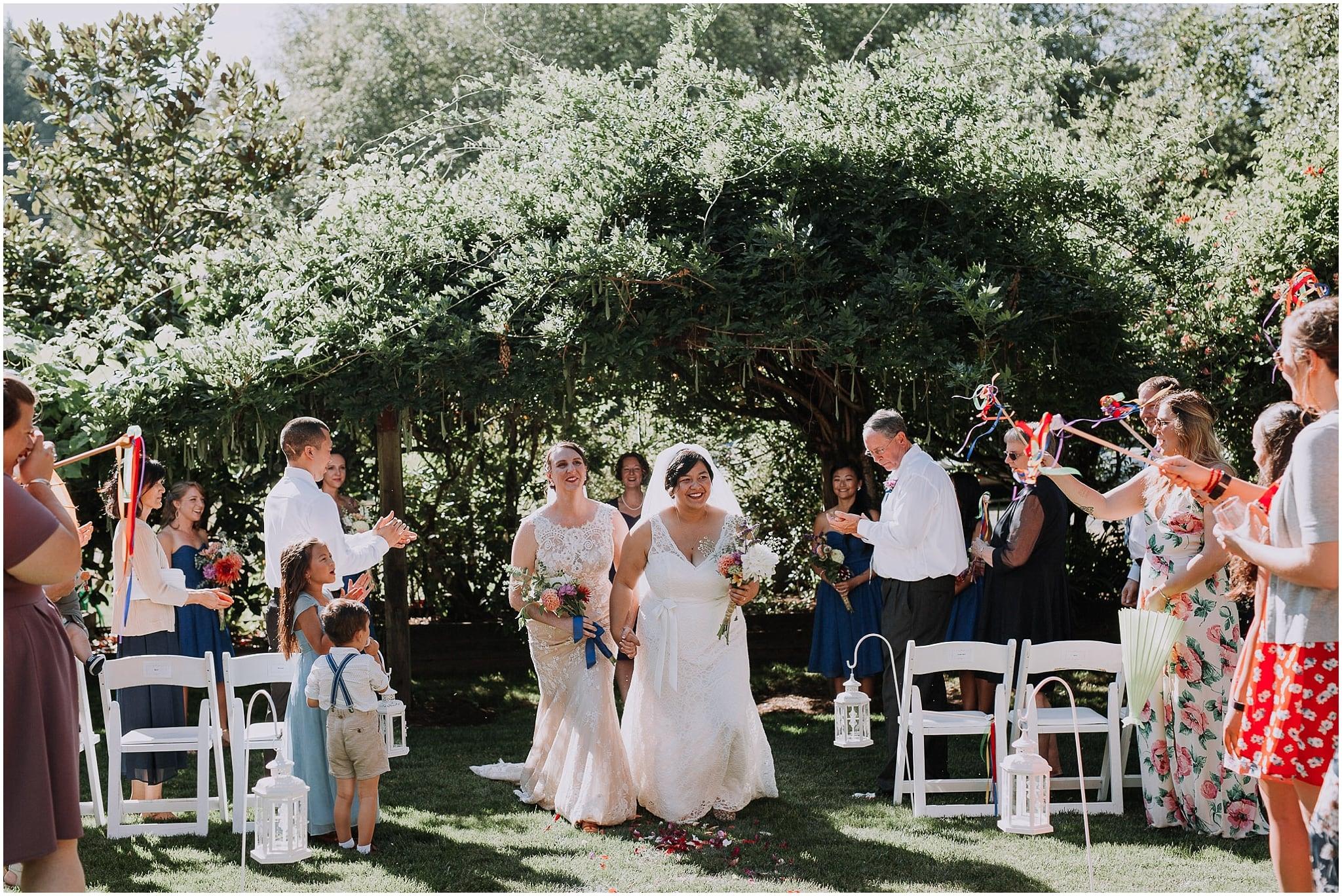 albees garden, LGBT, wedding, olympia, kim butler