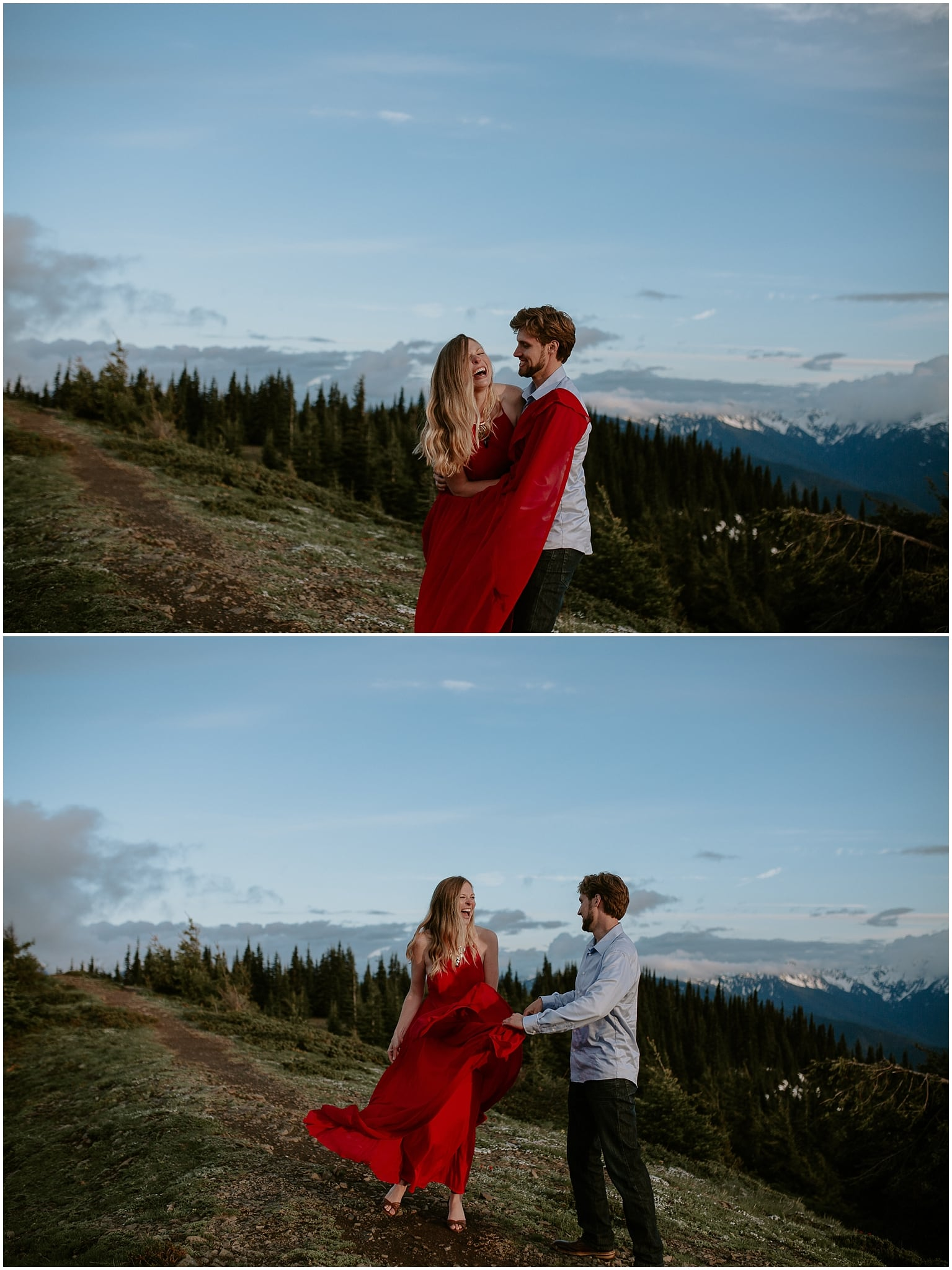 hurricane ridge, olympic national park, engagement, kim butler