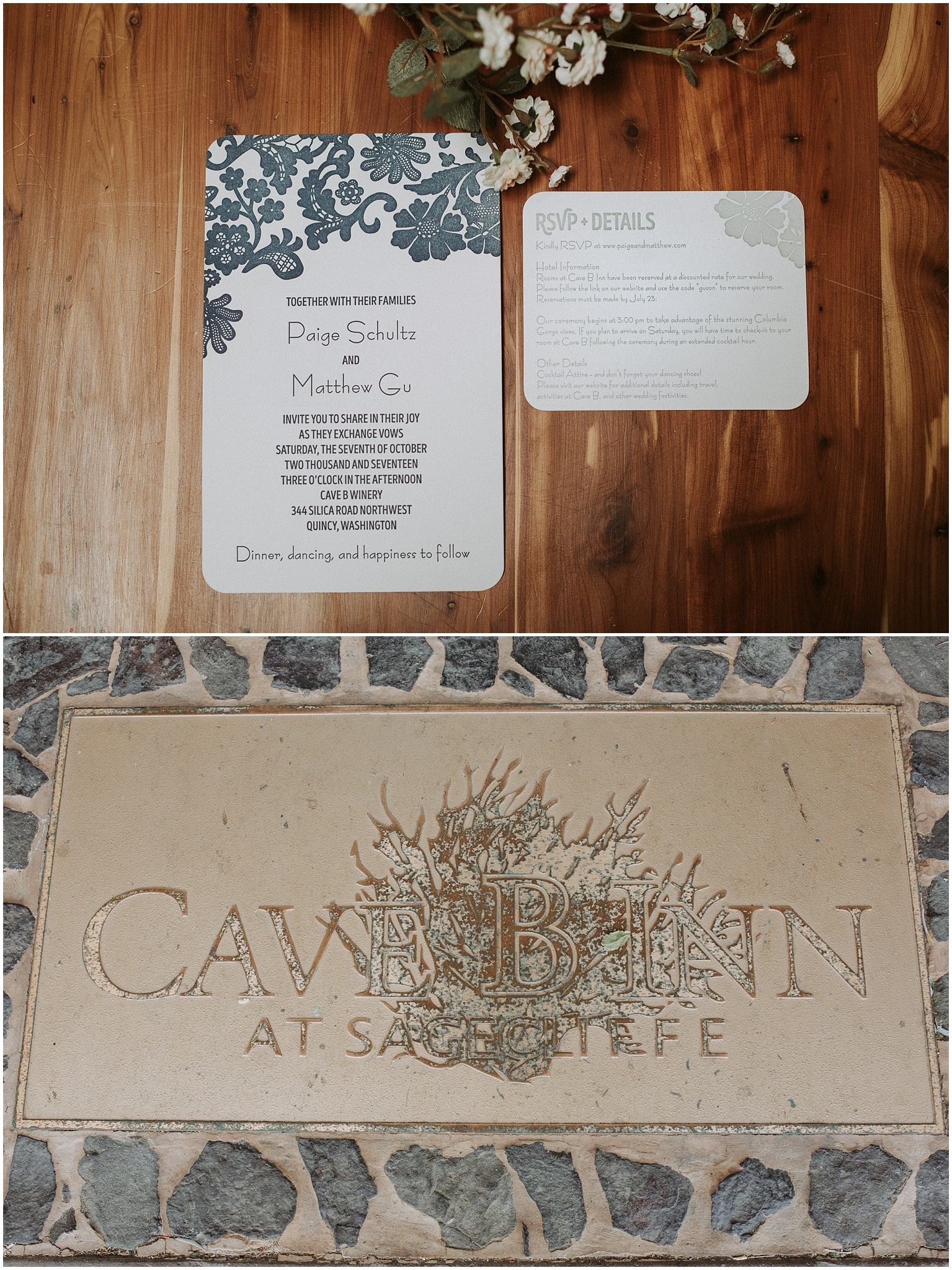 cave b winery wedding kim butler