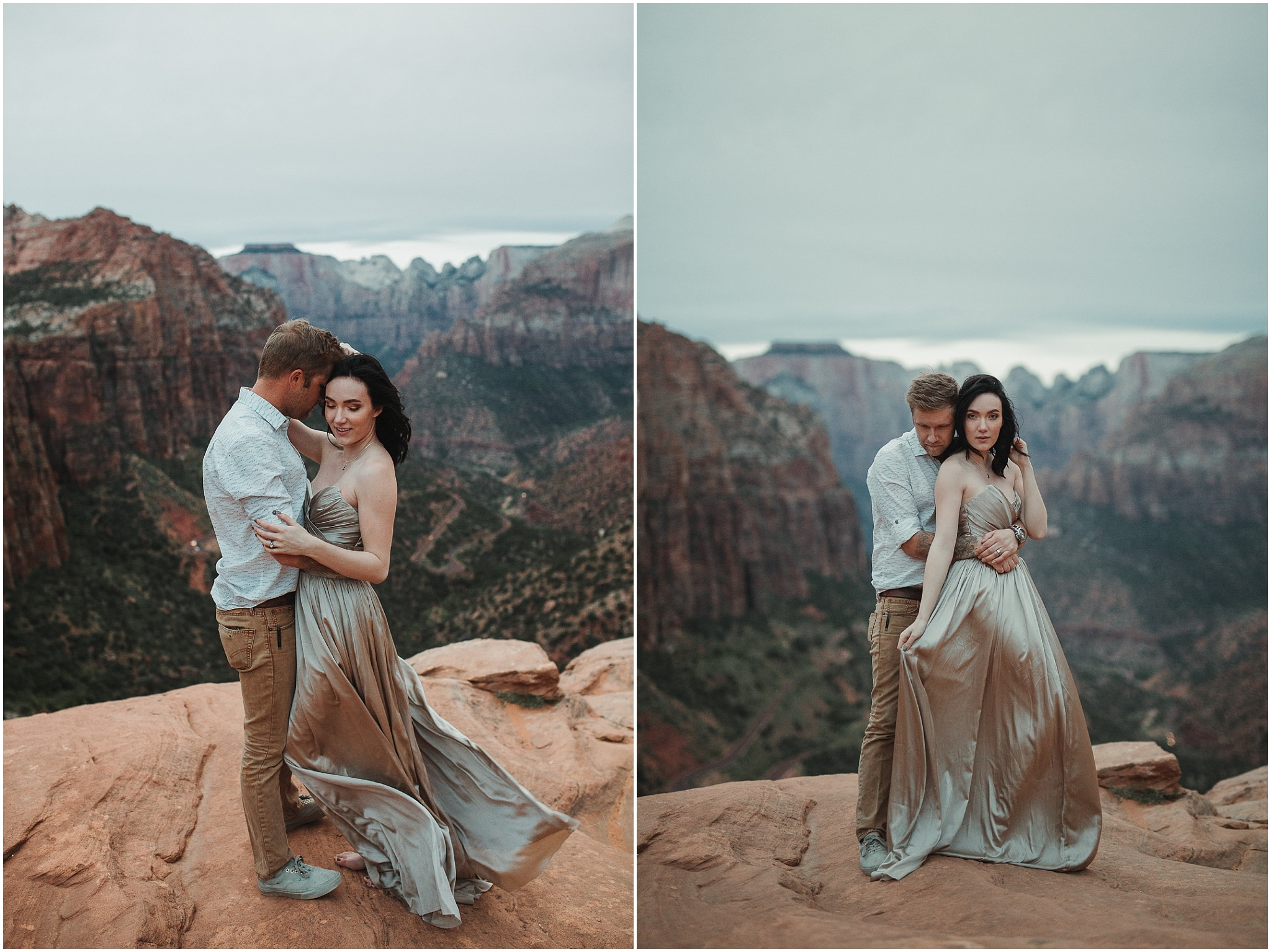 zion national park engagement session