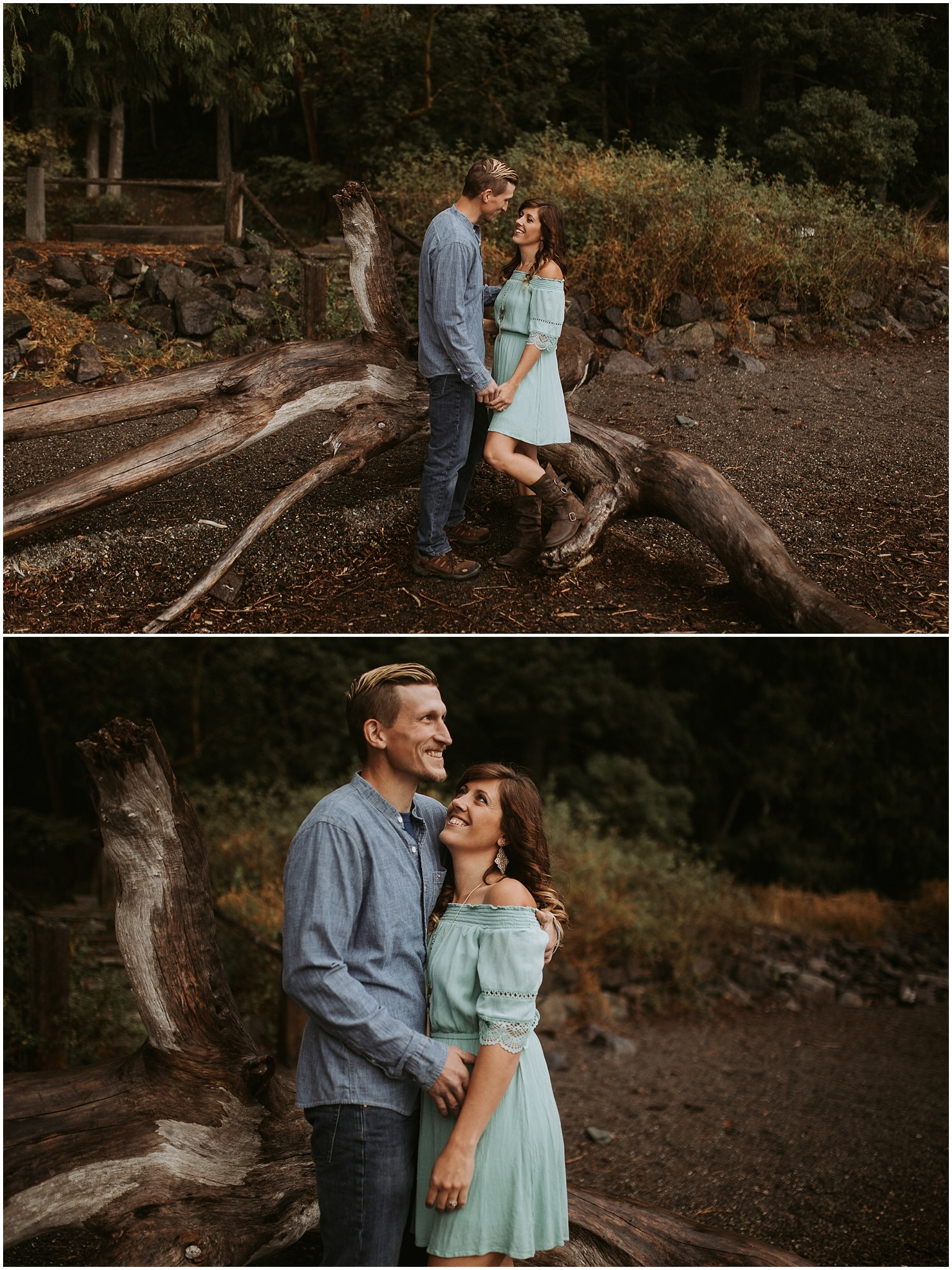 lake crescent engagement session kim butler