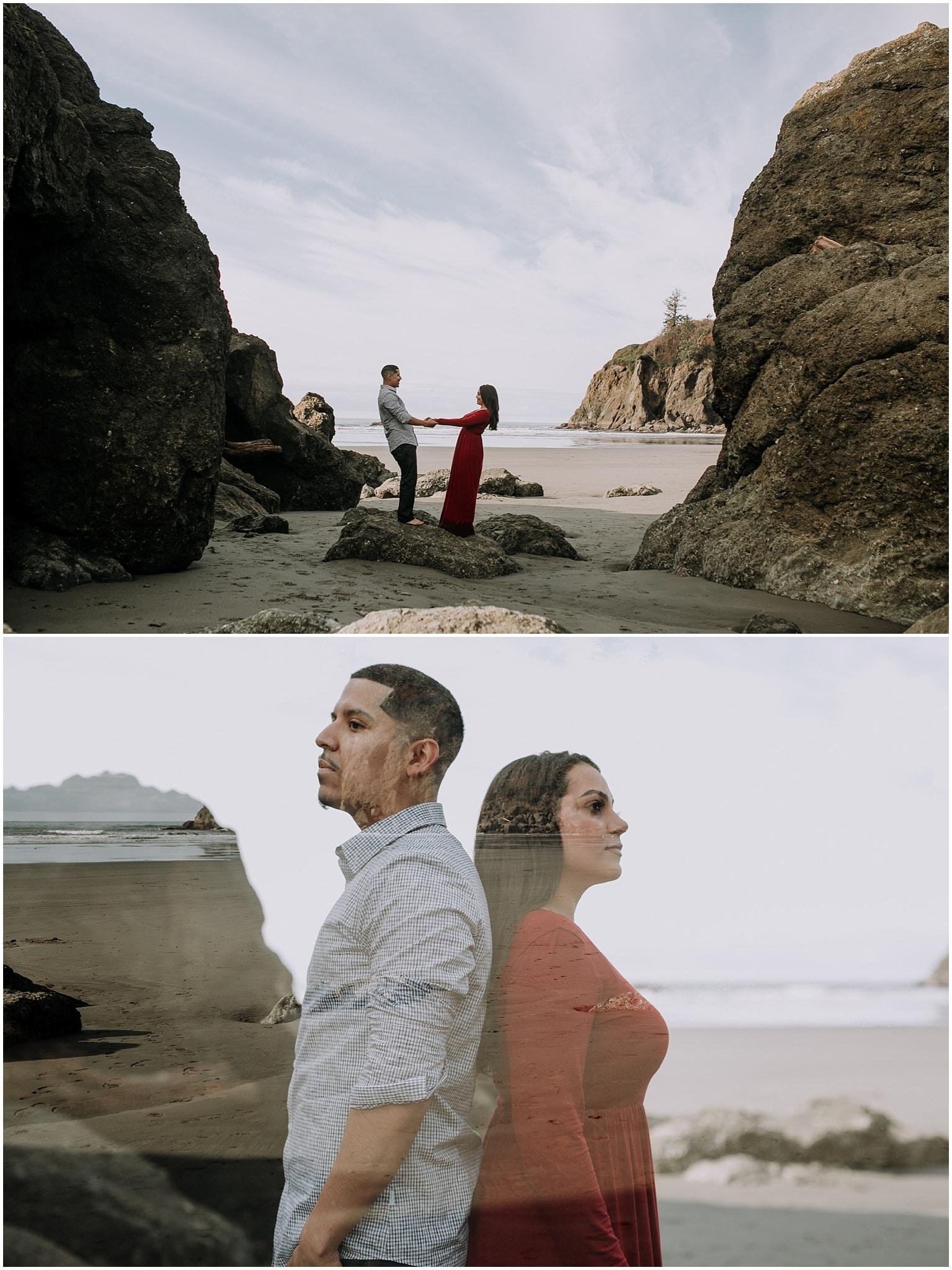 Ruby beach, olympic peninsula, elopement, kim butler