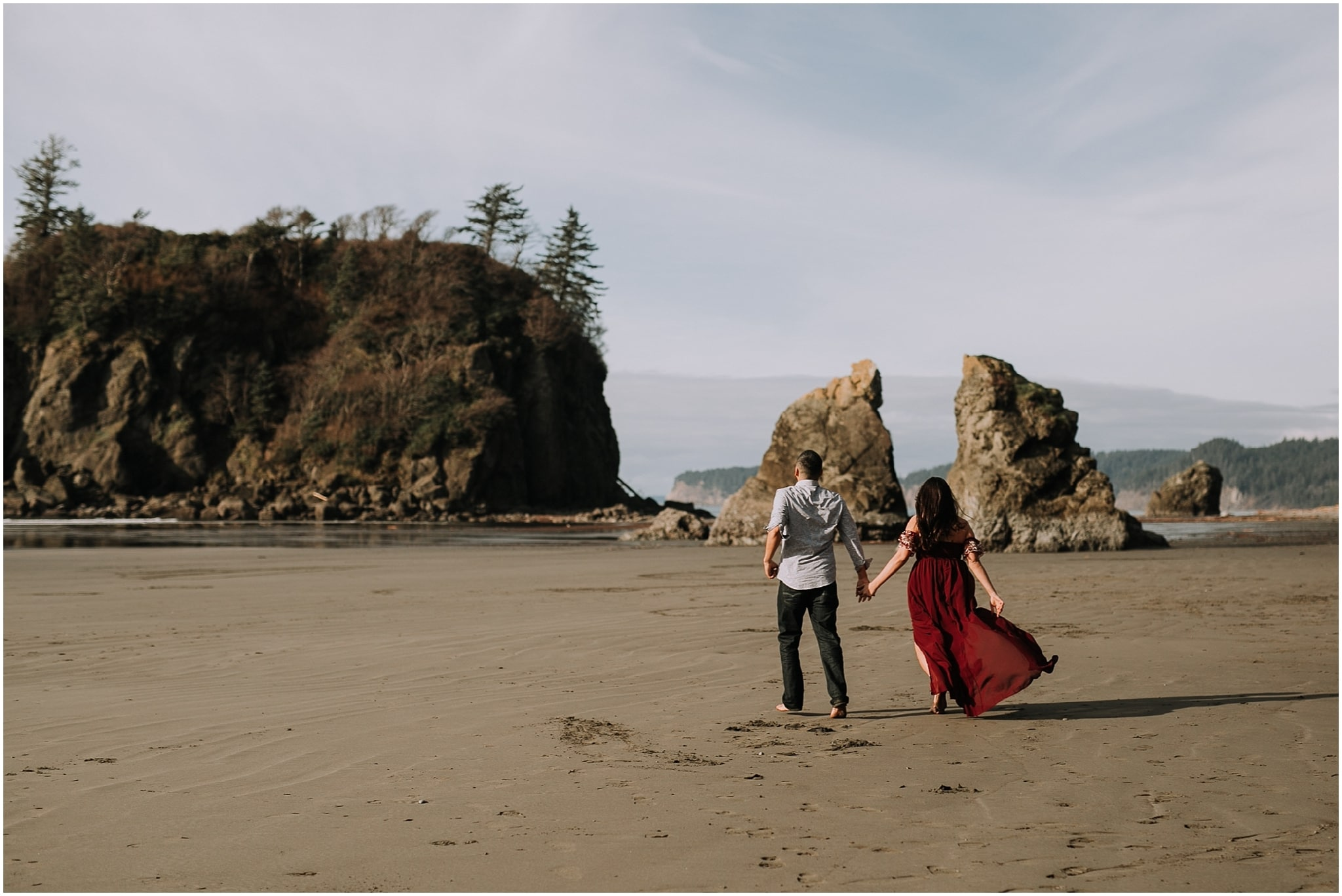 Ruby beach, olympic peninsula, elopement, kim butler