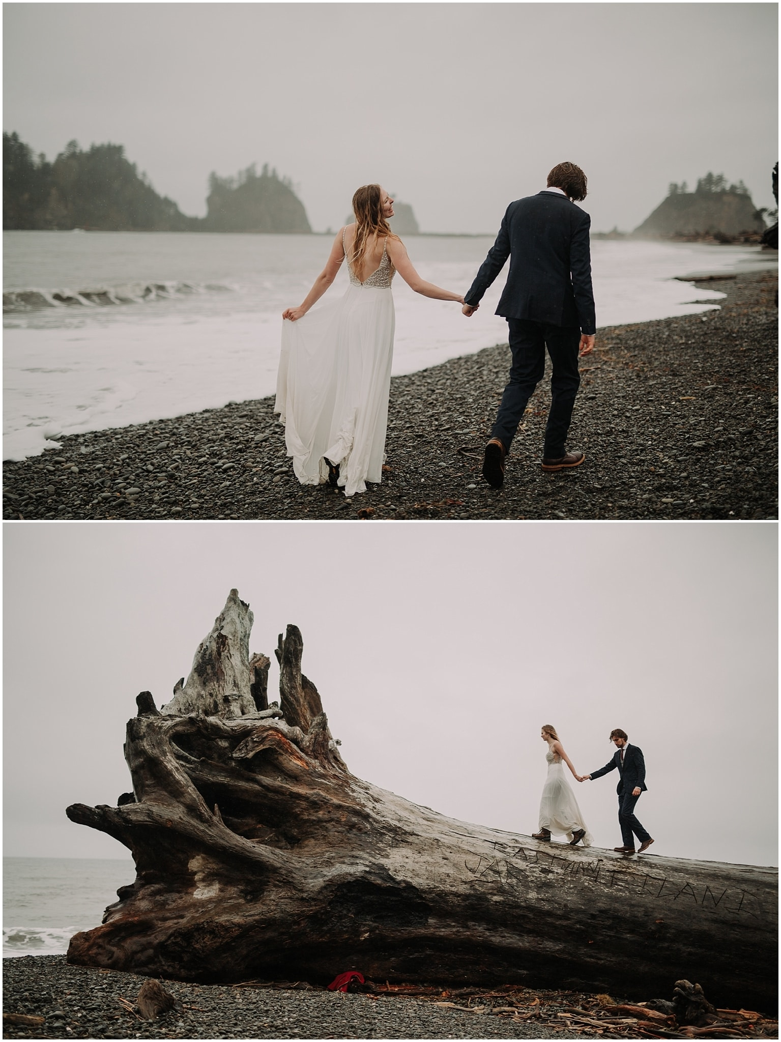Olympic National Forest Engagement Photos, Olympic National Park Engagement Photos, Washington Engagement Photographer, La Push Beach engagement photos, Washington elopement photographer, Best elopement photographers in Washington, Best Washington engagement photographers, First Beach LaPush, beach Engagement photos, adventurous Engagement session, Rainy day elopement, Olympic National Park La Push, adventure elopement photographer, la push beach Washington, second beach la push, second beach la push elopement, la push elopement photographer, la push elopement photography