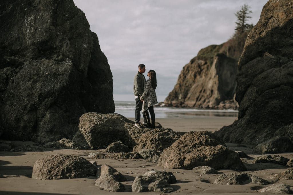 Alyssa & Matt // Ruby Beach Adventure Session