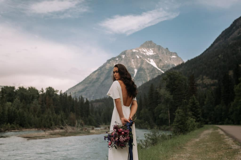 wedding dress, Montana, Wedding