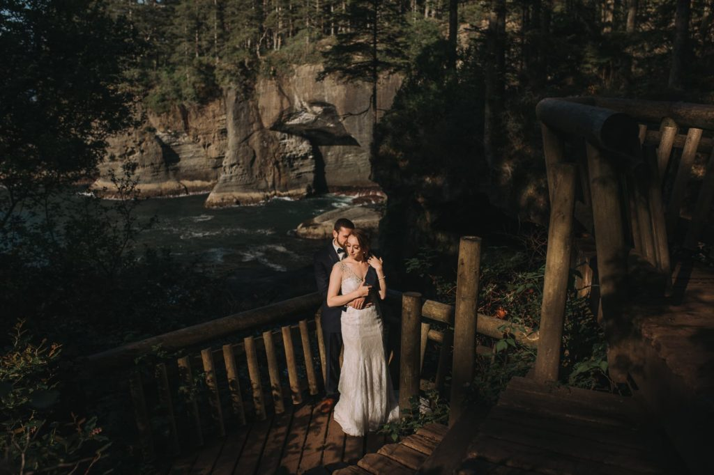 Cape Flattery Elopement, Wedding, Sunset