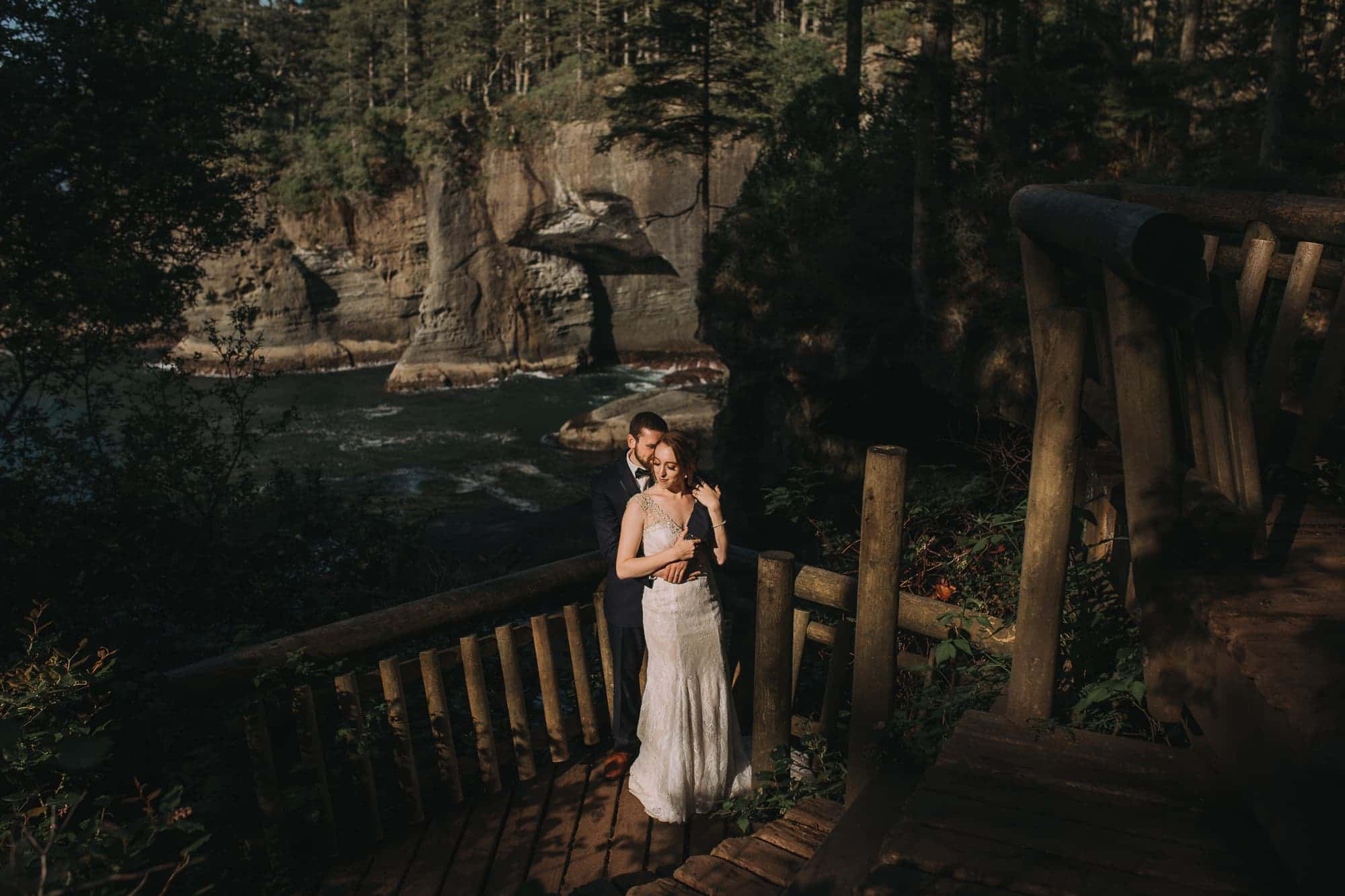 Cape Flattery Elopement, Wedding, Sunset