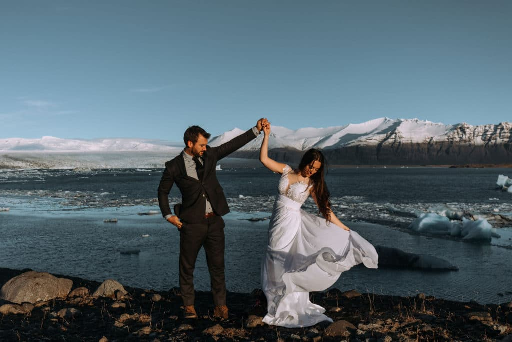 Iceland, Glacier Lagoon, elopement, wedding