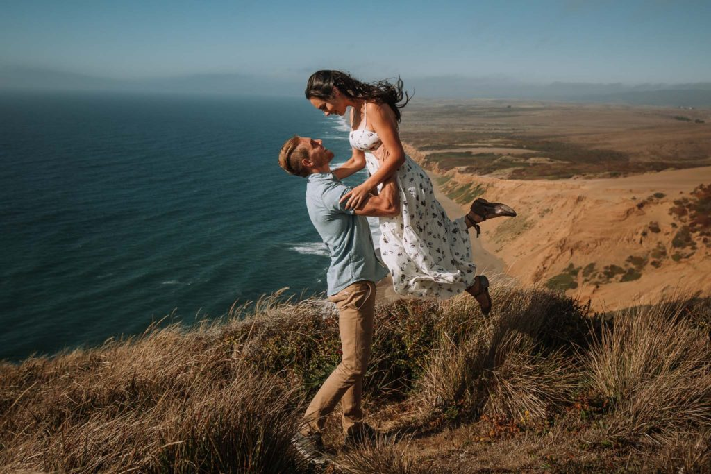 Carefree Engagement at Point Reyes California