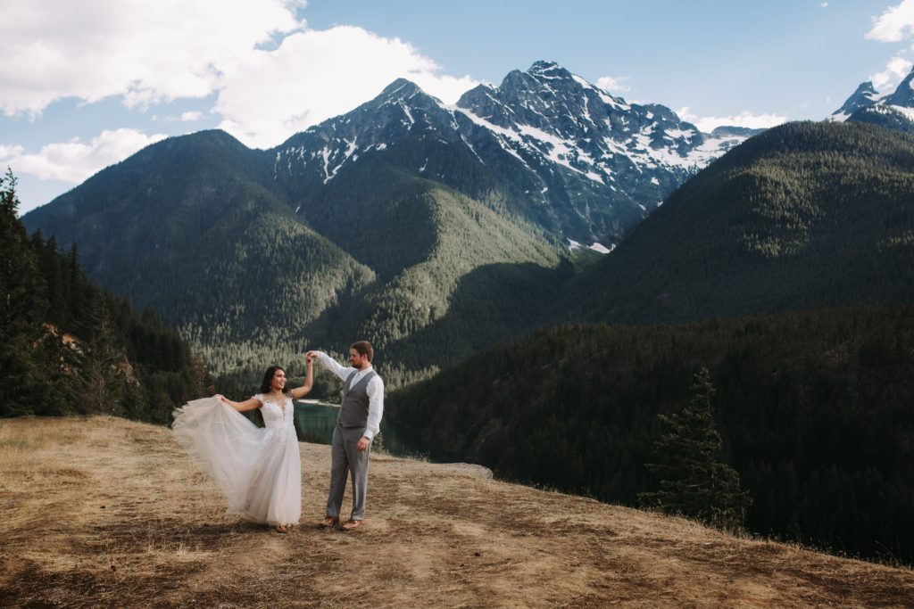 Epic Diablo Lake Elopement In The North Cascades