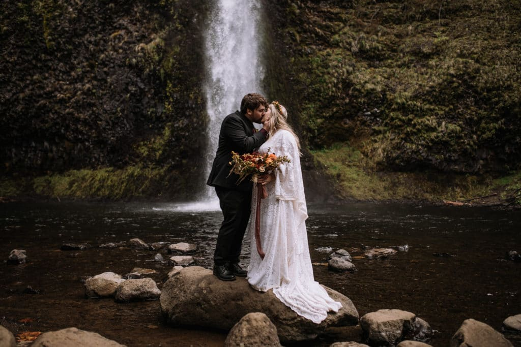 Anna & Alec - Autumn Moody Columbia River Gorge Elopement